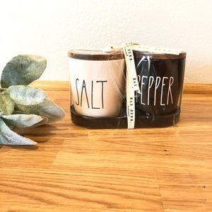Rae Dunn SALT PEPPER cellars